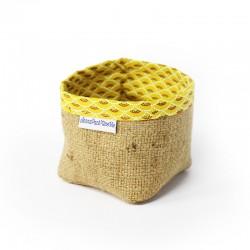 Panier - tissu jaune